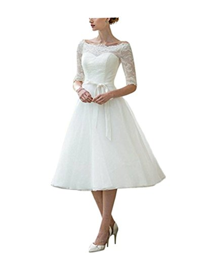 Cloverbridal Prinzessinnen Brautkleid, A-Linie, Vintage