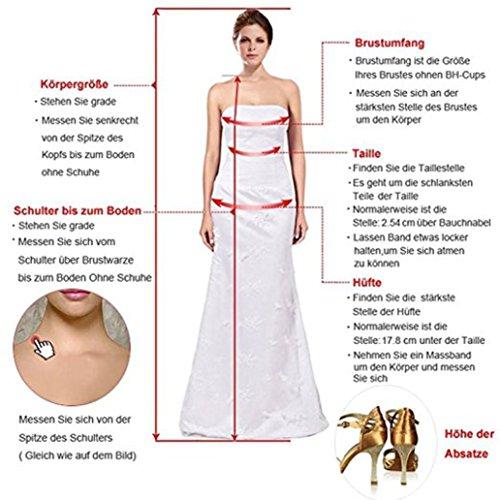 Cloverbridal Damen Elfenbein Tüll Brautkleider Hochzeitskleider Prinzessin A-Linie Lang Vintage Perlen Hochzeitskleid Spitze - 3