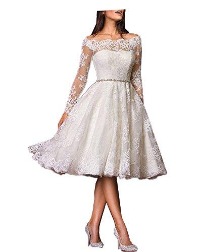 Aurora dresses  Romantisches Vintage Brautkleid, langarm, Elfenbein