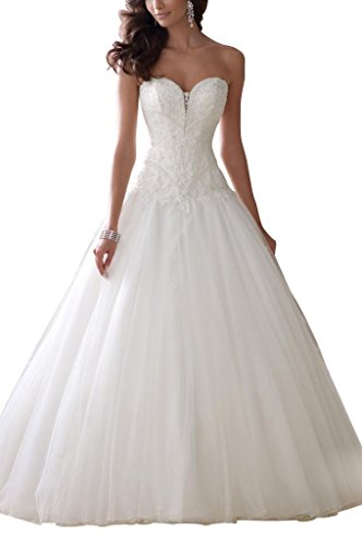 GEORGE BRIDE Princess Brautkleid, A-Linie, Elfenbein