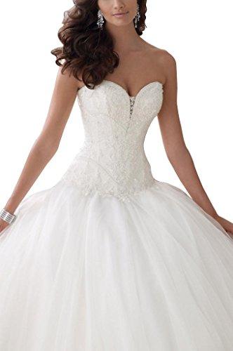 GEORGE BRIDE neue A-Linie Princess Brautkleider Hochzeitskleider, Groesse 40, Elfenbein - 2