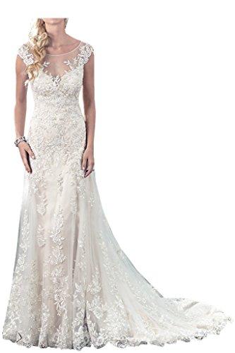 Milano Bride Zeitloses Prinzess Hochzeitskleid, Elfenbein