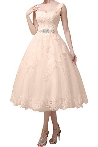 Victory Bridal Vintage Brautkleid, kurz, Pfirsich