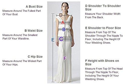 XUYUDITA Frauen A-Linie T¨¹ll Brautkleid Spitze Langarm Vintage Brautkleider Wei?-38 - 3