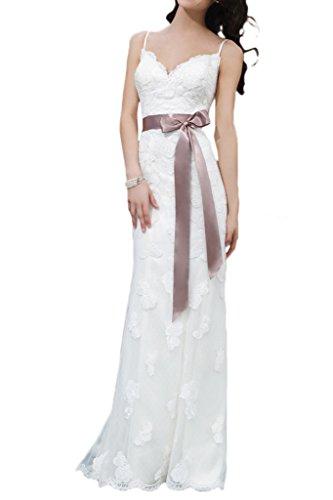 Milano Bride Spitzenkleid mit Schleppe, Etui-linie