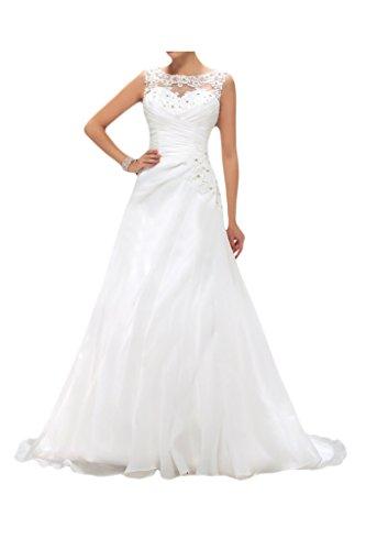 Milano Bride Brautkleid mit Schleppe, Spitze, U-Ausschnitt