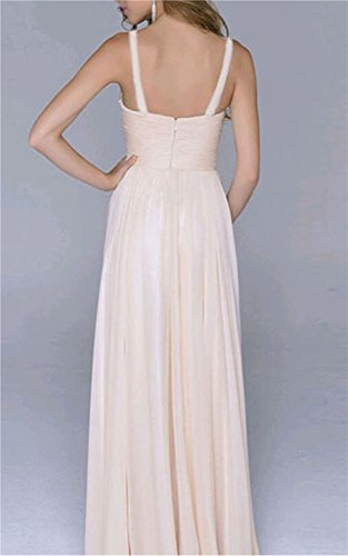 Brautkleid Vintage, Sondereu Maxikleid Elegant Abendkleider Lang Brautjungfernkleid Ballkleid Ärmellos A Linie Rückenfrei Partykleid (S) - 2