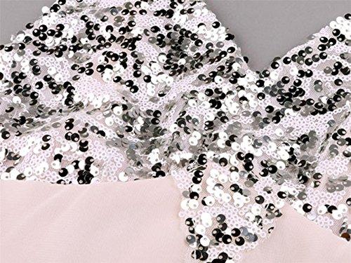 Brautkleid Vintage, Sondereu Maxikleid Elegant Abendkleider Lang Brautjungfernkleid Ballkleid Ärmellos A Linie Rückenfrei Partykleid (S) - 4