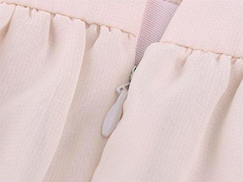 Brautkleid Vintage, Sondereu Maxikleid Elegant Abendkleider Lang Brautjungfernkleid Ballkleid Ärmellos A Linie Rückenfrei Partykleid (S) - 5