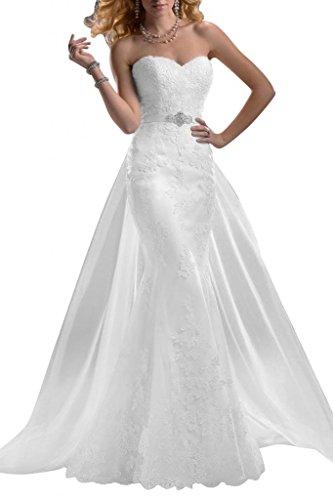 Gorgeous Bride Elegantes Meerjungfrau Brautkleid mit Schleppe