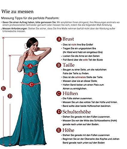 Cloverbridal Spitze Herzausschnitt Hochzeitskleider Brautkleider Brautmode Prinzess A-linie Rock mit lang Schleppe - 3