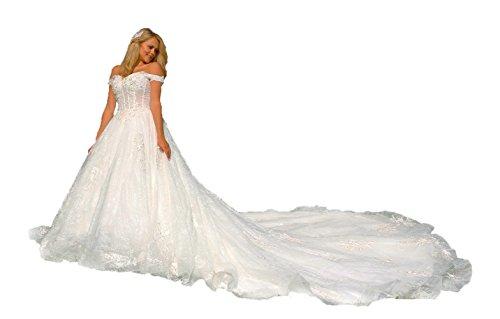 Luxus Brautkleid mit Spitze und Schleppe, Maßanfertigung