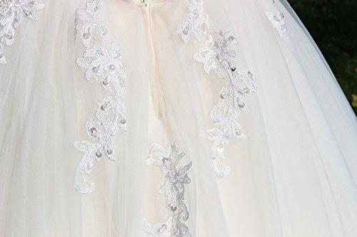 Luxus Brautkleid Hochzeitskleid NEU Braut Spitze Prinzessin Brautkleider Maßanfertigung Spitzenkleid Herzausschnitt Kleid Hochzeit Weiß Ivory nach Maß Tüll - 9