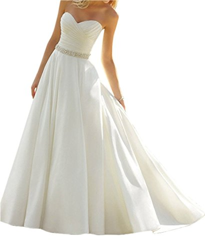 Cloverbridal Elegantes Elfenbeinfarbenes Hochzeitskleid