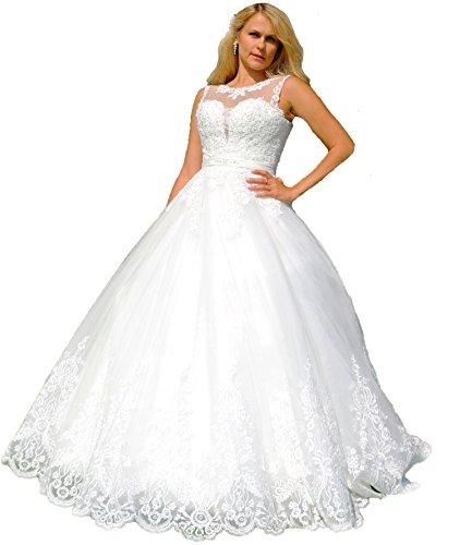 Luxus Brautkleid mit Träger, Maßanfertigung, Herzausschnitt