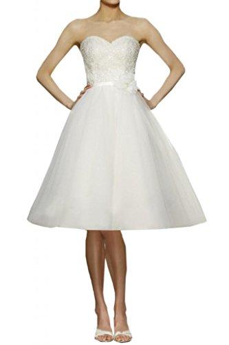 Milano Bride Brautkleid mit Herz-Ausschnitt und Spitze
