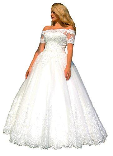 Luxus Brautkleid mit Träger Ärmel, Maßanfertigung