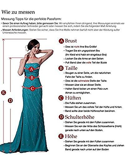 Cloverbridal Damen Elegant Herzausschnitt Hochzeitskleider süße Brautkleider Brautmode Lang A-linie - 3