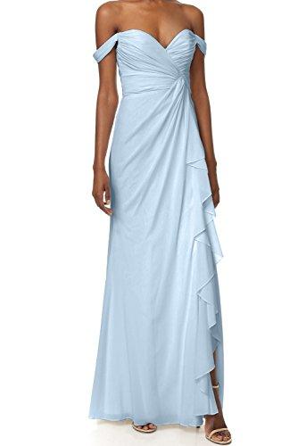 Promgirl House Brautjungfernkleid mit Off-Schulter und Herz-Ausschnitt, Hellblau
