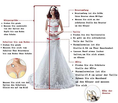 Promgirl House Damen Einfarbig Lang A-Linie Chiffon Off-Schulter Herz-Ausschnitt Brautkleid Brautmutterkleid Ballkleider Cocktail Brautjungfernkleid Lang-36 Hellblau - 3