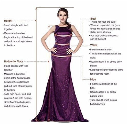 ANJURUISI Damen Sexy V-Back Meerjungfrau ?rmelloses Hochzeitskleid f¨¹r die Braut Elfenbein-46 - 3