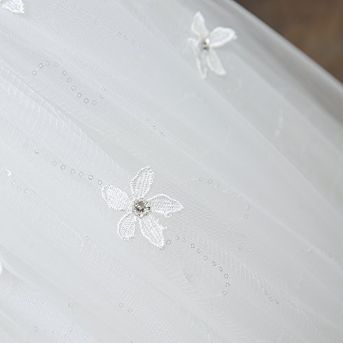 Viktion Damen Lang Hochzeitkleid Hochzeitskleider Brautkleider Hochzeit Kleid weiß lang Abendkleid … (30/ S) - 6
