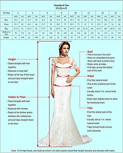 Damen Elegant Spitzen Abendkleid Tüll Kleid Festlich Applique lang Champagner 32 - 5
