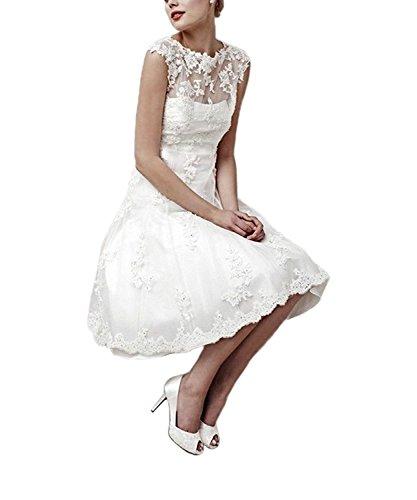 Aurora dresses Hochzeitskleid, transparenter Rücken, Spitze, Elfenbein