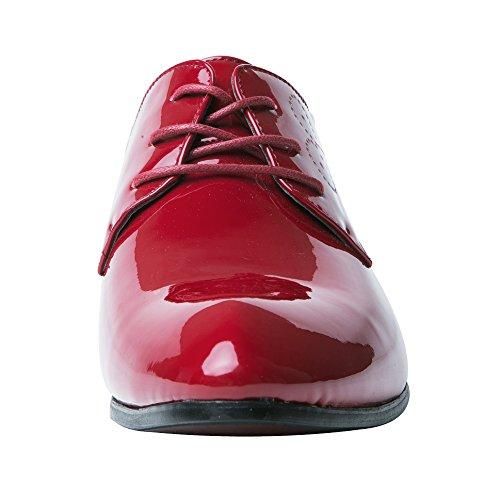 Herrenschuhe Herren Derby Schnürhalbschuhe Business Schnürer Halbschuhe Klassischer Schuhe Männer Rote 42 EU - 5