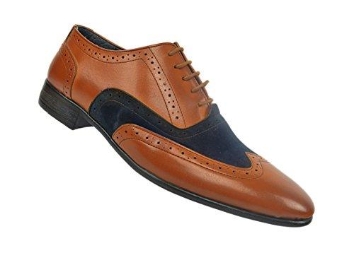 Oxford Herrenschuhe, Brogues Schuhe, Braun