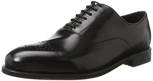 Clarks Herren Ellis Vincent Derbys, Schwarz (Black Leather), 43 EU