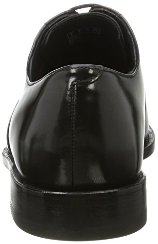 Clarks Herren Ellis Vincent Derbys, Schwarz (Black Leather), 43 EU - 2