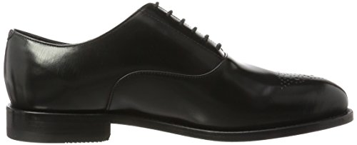 Clarks Herren Ellis Vincent Derbys, Schwarz (Black Leather), 43 EU - 6
