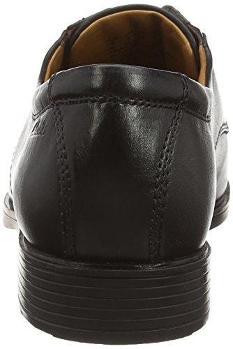 Clarks Tilden Walk, Herren Derby Schnürhalbschuhe, Schwarz (Black Leather), 42 EU (8 Herren UK) - 2