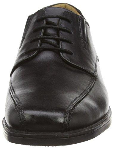 Clarks Tilden Walk, Herren Derby Schnürhalbschuhe, Schwarz (Black Leather), 42 EU (8 Herren UK) - 3