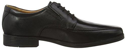 Clarks Tilden Walk, Herren Derby Schnürhalbschuhe, Schwarz (Black Leather), 42 EU (8 Herren UK) - 5
