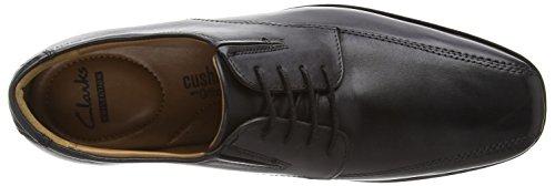Clarks Tilden Walk, Herren Derby Schnürhalbschuhe, Schwarz (Black Leather), 42 EU (8 Herren UK) - 6
