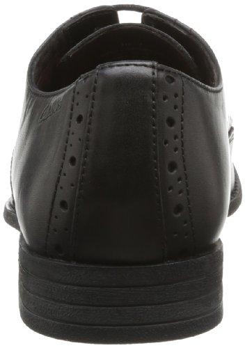 Clarks Chart Walk, Herren Derby Schnürhalbschuhe, Schwarz (Black Leather), 44 EU - 2