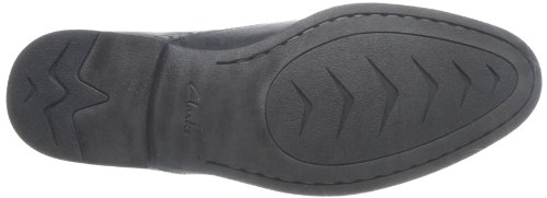Clarks Chart Walk, Herren Derby Schnürhalbschuhe, Schwarz (Black Leather), 44 EU - 3