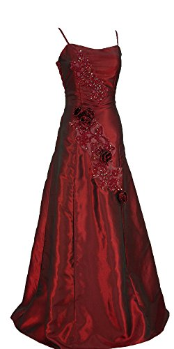 Cherlone Ballkleid, lang, formell, Abendkleid, Brautjungferkleid, Burgunderrot Gr. 40, burgunderfarben - 2