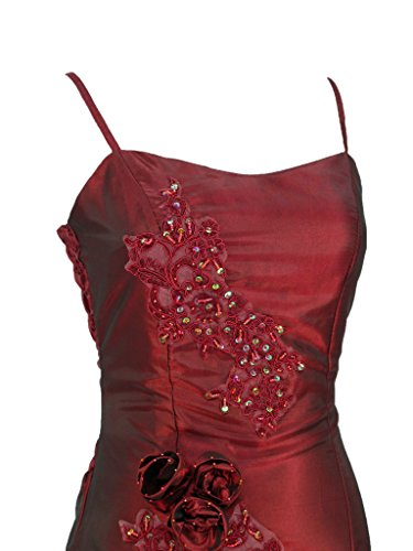 Cherlone Ballkleid, lang, formell, Abendkleid, Brautjungferkleid, Burgunderrot Gr. 40, burgunderfarben - 3