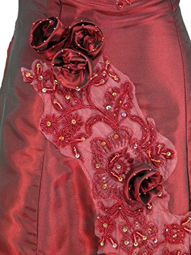 Cherlone Ballkleid, lang, formell, Abendkleid, Brautjungferkleid, Burgunderrot Gr. 40, burgunderfarben - 4