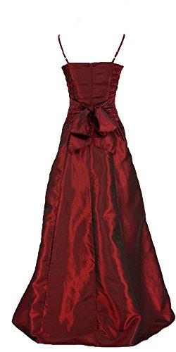 Cherlone Ballkleid, lang, formell, Abendkleid, Brautjungferkleid, Burgunderrot Gr. 40, burgunderfarben - 5