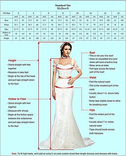 Damen Spitzenkleid festliche Kleider Brautjungferkleid Hochzeitskleid Cocktailkleid Langes Abendkleid Weinrot Gr.36 - 6