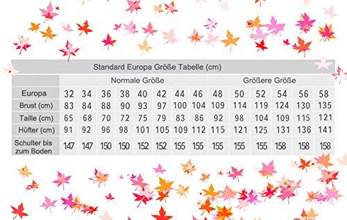 CoutureBridal® Damen Kleid Lang Abendkleider Abschlussball Ballkleid Brautjungferkleid Wulstige Chiffon Weinrot EU36 - 4