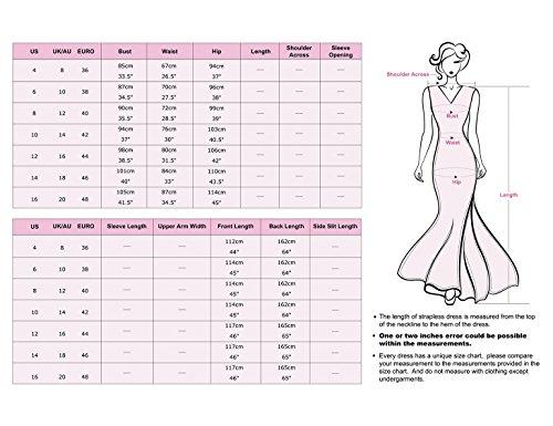 Ever Pretty Damen V-Ausschnitt Chiffon Lange Abendkleider 48 Gelb EP09983YL16 - 3