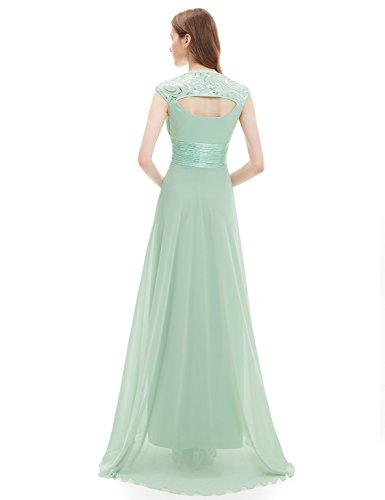 Ever Pretty Damen V-Ausschnitt Lange Chiffon Abendkleider Festkleider 42 Hellviolett EP09672LV10 - 2