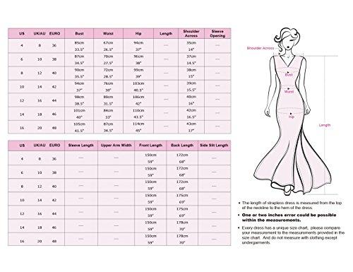Ever Pretty Damen V-Ausschnitt Lange Chiffon Abendkleider Festkleider 42 Hellviolett EP09672LV10 - 3