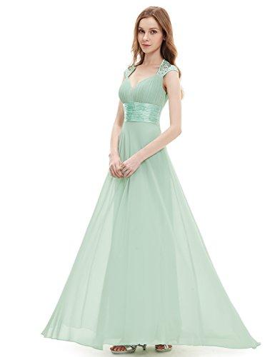 Ever Pretty Damen V-Ausschnitt Lange Chiffon Abendkleider Festkleider 42 Hellviolett EP09672LV10 - 5