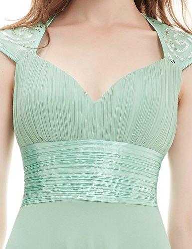 Ever Pretty Damen V-Ausschnitt Lange Chiffon Abendkleider Festkleider 42 Hellviolett EP09672LV10 - 6